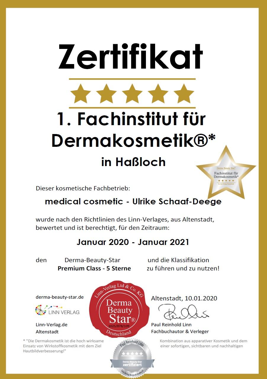 5 Sterne Derma-Institut auch 2020